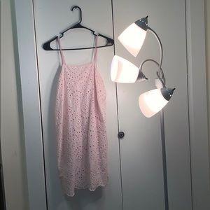 Beautiful light pink textured short dress